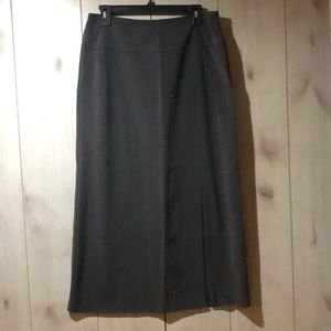 George grey A-line maxi skirt with slit